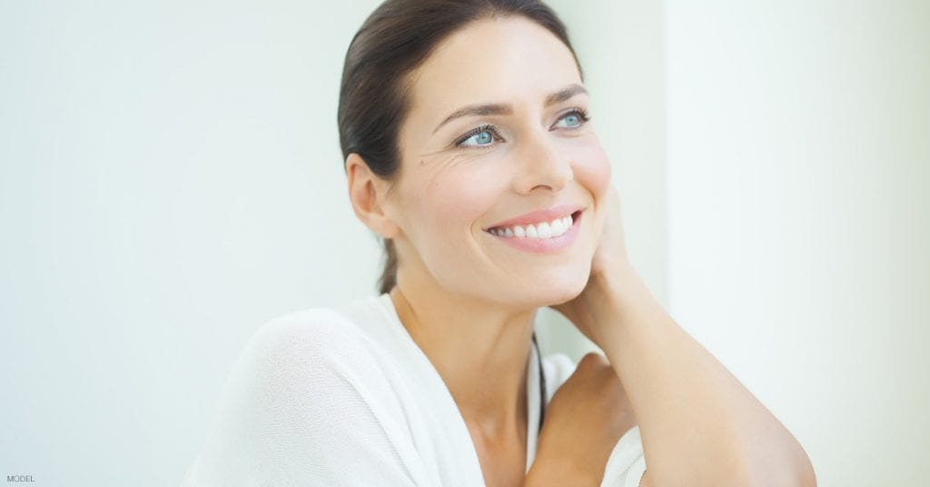 Woman in Idaho Falls smiling and happy with her facelift surgery results